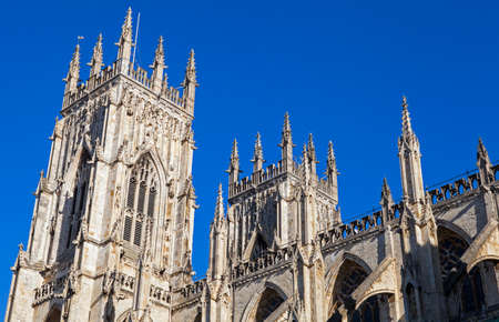 minster: The towers of the historic York Minster in York, England. Editorial