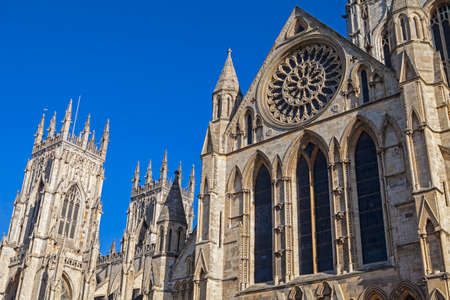 york minster: A view of the magnificent York Minster in York, England.