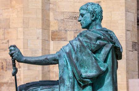 constantine: A statue of Roman Emperor Constantine the Great in York, England.