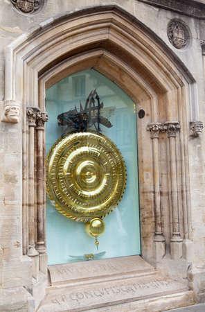corpus: The historic Corpus Clock situated at Corpus Christi College in Cambridge, UK.