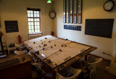 cambridgeshire: CAMBRIDGESHIRE, UK - OCTOBER 5TH 2015: The Operations Room used during the Second World War at the Imperial War Museum Duxford in Cambridgeshire, on 5th October 2015.