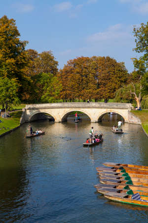 punter: A view over the River Cam in Cambridge looking towards Trinity Bridge.