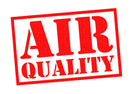 quality: AIR QUALITY red Rubber Stamp over a white background.