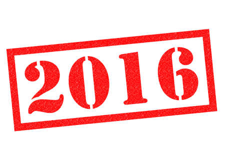 last year: 2016 red Rubber Stamp over a white background.