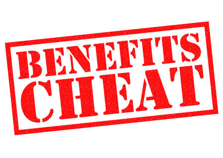 cheat: BENEFITS CHEAT red Rubber Stamp over a white background. Stock Photo