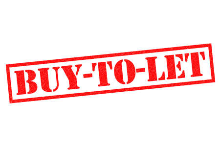 landlord: BUY-TO-LET red Rubber Stamp over a white background.