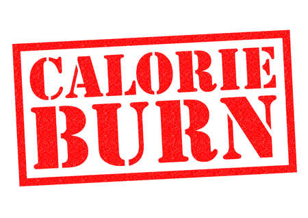 burned out: CALORIE BURN red Rubber Stamp over a white background.