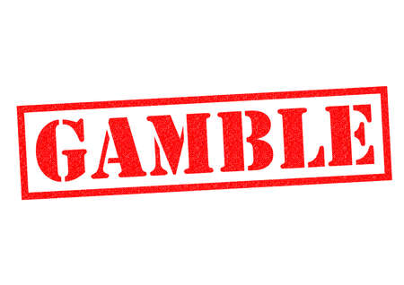 stake: GAMBLE red Rubber Stamp over a white background.