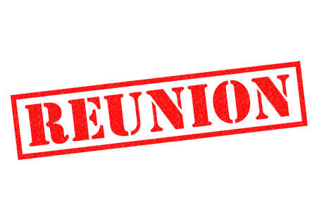 uni: REUNION red Rubber Stamp over a white background.