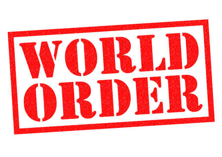 dictatorship: WORLD ORDER red Rubber Stamp over a white background.