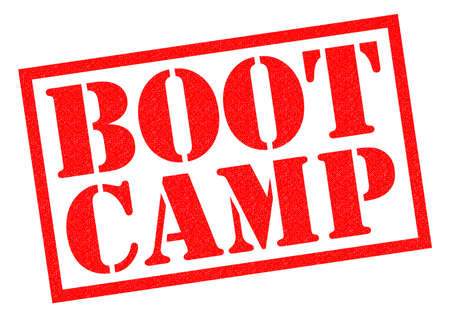 boot camp: BOOT CAMP red Rubber Stamp over a white background.