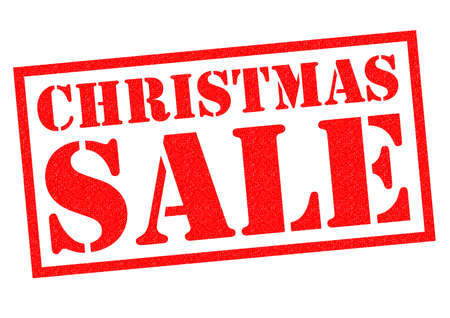 christmastime: CHRISTMAS SALE red Rubber Stamp over a white background.