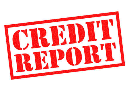 credit report: CREDIT REPORT red Rubber Stamp over a white background.