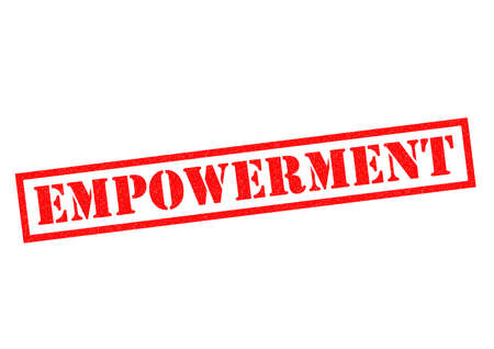 assent: EMPOWERMENT red Rubber Stamp over a white background.