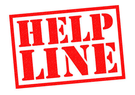 shared sharing: HELP LINE red Rubber Stamp over a white background.