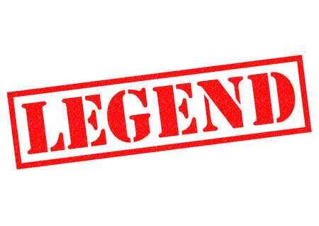 legend: LEGEND red Rubber Stamp over a white background.