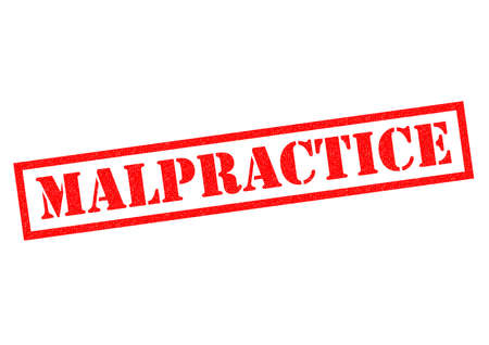 lawless: MALPRACTICE red Rubber Stamp over a white background.
