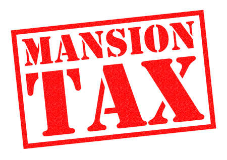 resident: MANSION TAX red Rubber Stamp over a white background.