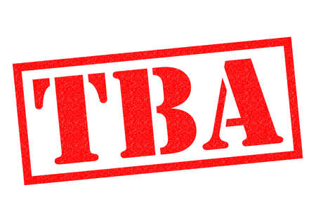disclose: TBA red Rubber Stamp over a white background.