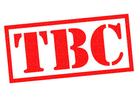 announced: TBC red Rubber Stamp over a white background.
