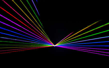Colorful Laser effect over a plain black background. Stock Photo
