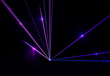 fiber optic lamp: Colorful Laser Effect over a plain black background.