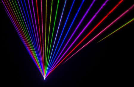 Colorful Laser Effect over a plain black background.