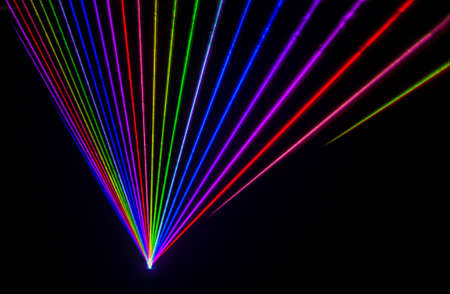 Colorful Laser Effect over a plain black background. Banco de Imagens - 50501498