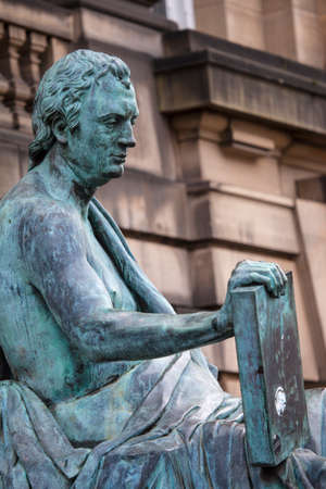 philosopher: A statue of Scottish Philosopher David Hume in Edinburgh, Scotland.
