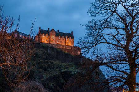 A view of the magnificent Edinburgh Castle in Scotland.