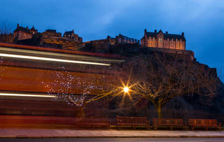 princes street: A view of the magnificent Edinburgh Castle from Princes Street in Edinburgh, Castle.