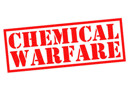 wmd: CHEMICAL WARFARE red Rubber Stamp over a white background.
