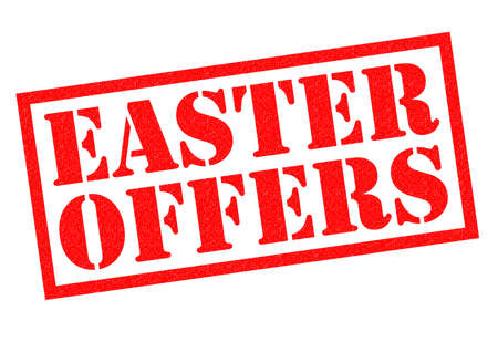 eater: EASTER OFFERS red Rubber Stamp over a white background.
