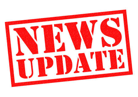 news update: NEWS UPDATE red Rubber Stamp over a white background. Stock Photo