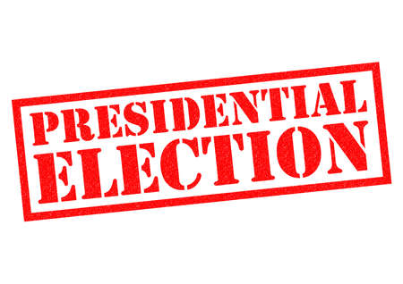 presidential: PRESIDENTIAL ELECTION red Rubber Stamp over a white background.