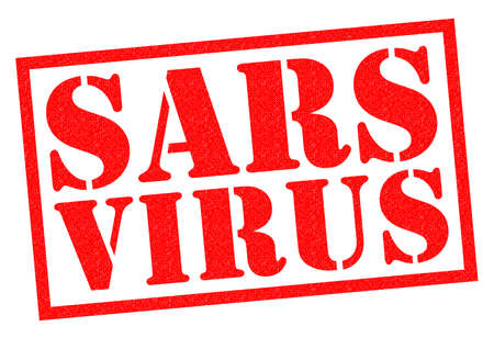 sars: SARS VIRUS red Rubber Stamp over a white background. Stock Photo