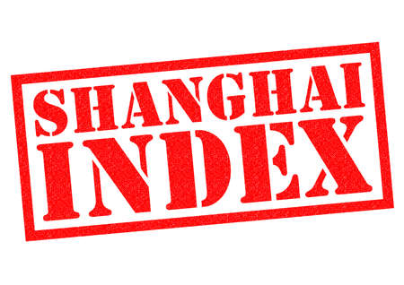 index: SHANGHAI INDEX red Rubber Stamp over a white background.