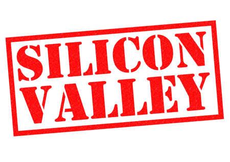 silicon: SILICON VALLEY sello de goma de color rojo sobre un fondo blanco