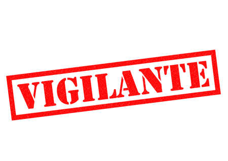 watchdog: VIGILANTE red Rubber Stamp over a white background. Stock Photo