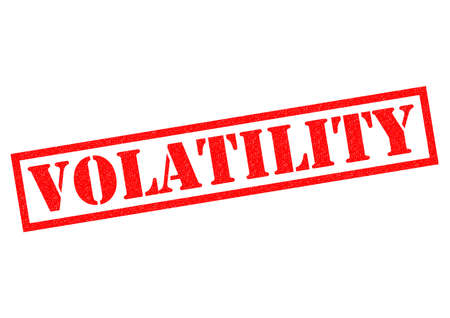 unreliable: VOLATILITY red Rubber Stamp over a white background. Stock Photo