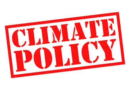 climate: CLIMATE POLICY red Rubber Stamp over a white background.