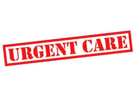 worrying: URGENT CARE red Rubber Stamp over a white background.