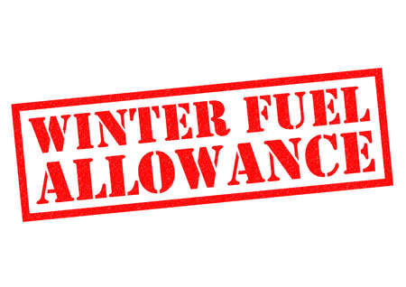 allowance: WINTER FUEL ALLOWANCE red Rubber Stamp over a white background.