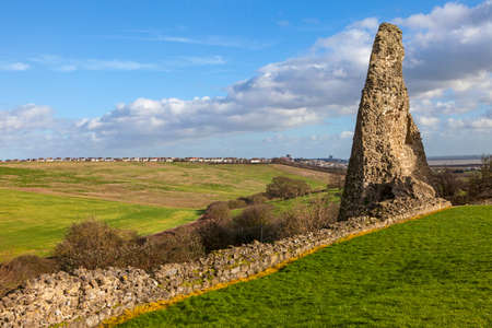 remains: Remains of the historic Hadleigh Castle in Essex, England. Stock Photo