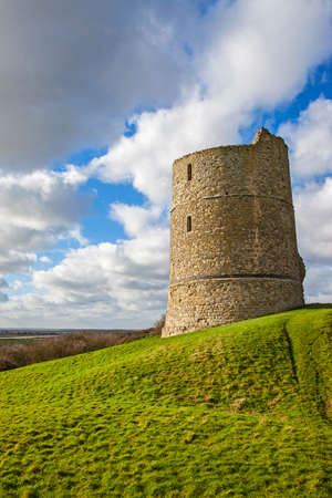 king edward: A view of the historic remains of Hadleigh Castle in Essex, England. Stock Photo
