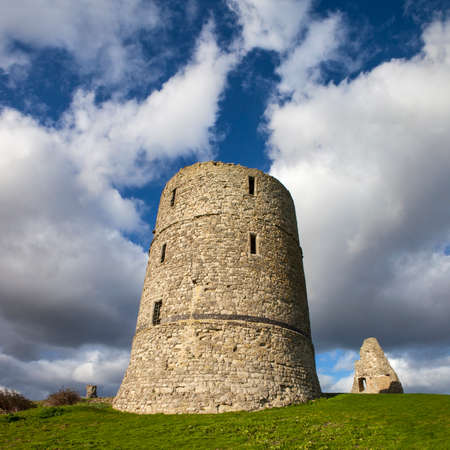 king edward: A view of the historic ruins of Hadleigh Castle in Essex, England.