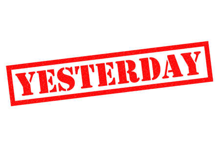 organised: YESTERDAY red Rubber Stamp over a white background. Stock Photo