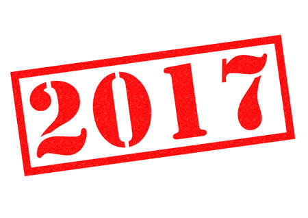next year: 2017 red Rubber Stamp over a white background. Stock Photo