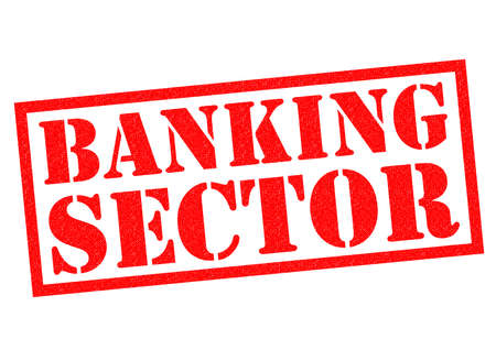sector: BANKING SECTOR red Rubber Stamp over a white background.