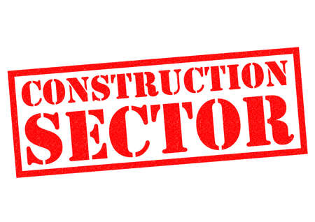 sector: CONSTRUCTION SECTOR red Rubber Stamp over a white background. Stock Photo